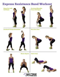 Express Resistance Band Workout you can do anywhere!