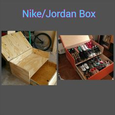 Custom Nike/Jordan Shoe Box made to store your shoes in style. This box is completely customizable to your liking. This price includes paint ad personalization of the inside. There is a $100 deposit to lock in a completion date. Email or Call me to see how far out I am booked. 281-509-1770 or info@mayodesignco.com