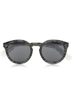 75ab1578c3 Illesteva Leonard II Grey Round Acetate Sunglasses  http   rstyle.me
