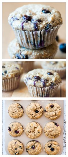 Healthy Blueberry Muffins - filled with heart-healthy ingredients and antioxidants! | via @Crissy Page