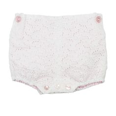 Pink White Lace Bloomers from Lace & Ribbons