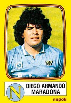Diego Maradona è il Napoli, nei sette album che lo rappresentano