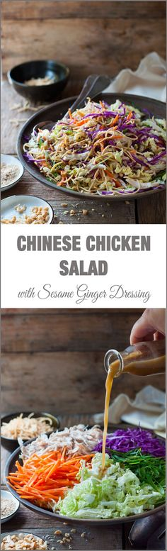 Chinese Chicken Salad // yummy, crunchy noodles, easy to throw together #takeout