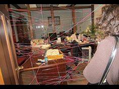 Office prank - Surprise Spiderweb