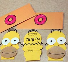 How to Throw A Last Minute Party DIY Invitations | The Simpsons | www.blackandwhiteobsession.com Simpsons Party, The Simpsons, Fancy Party, Diy Party, Diy Invitations, Birthday Invitations, Birthday Bash, Birthday Party Themes, Cumpleaños Diy