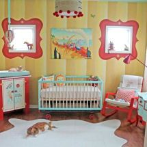 1000 images about colorful and fun baby rooms on for Circus themed bedroom ideas