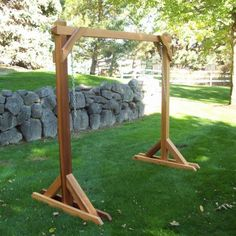 Outdoor Bench Swing With Stand.Site Has Free Plans For This A Frame Swing Frame Porch . Lakeland Mills White Cedar Log Porch Swing And Stand Set . Home and Family
