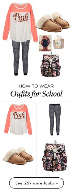 lazy day at school by paigemorris-i on Polyvore featuring Splendid and UGG Australia