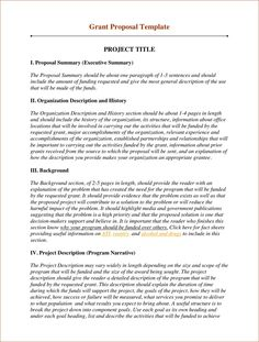 Sample business proposal proposal sample here s a for Grant template for nonprofit