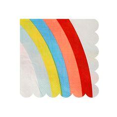 Super leuke servetten met een regenboog! Ideaal voor een rainbow and unicorn party of een k3 feestje!  Afmeting: 12,5 x 12,5 cm Verpakt per 16 stuks. Kwaliteit: 3-laags Brievenbuspost: Ja