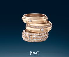 the possession ring made of pink gold and set with diamonds unique powerful with