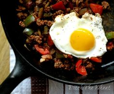 Paleo Mexican Breakfast, from ditch the wheat. Mexican Breakfast Recipes, Low Carb Breakfast, Mexican Food Recipes, Real Food Recipes, Breakfast Skillet, Breakfast Hash, Breakfast Ideas, Mexican Meat, Mexican Eggs