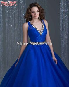 >> Click to Buy << Cheap Quinceanera Gowns Beading Crystal V-Neck Sleeveless Floor-Length Ball Gown Vestido De Festa Free Shipping AH32 #Affiliate