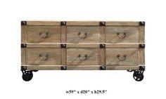 $2600  Rustic Style Four Wheels Six Drawers Low Table / Tv Stand Af472 http://www.amazon.com/dp/B00551LIDM/ref=cm_sw_r_pi_dp_HM01qb0C1BM34