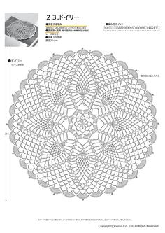 Giftjap info Интернет магазин japanese book and magazine handicrafts knit ange 2016 spring summer Mandala Au Crochet, Crochet Doily Patterns, Crochet Diagram, Crochet Chart, Filet Crochet, Crochet Doilies, Knit Crochet, Dreamcatcher Crochet, Dream Catcher Patterns