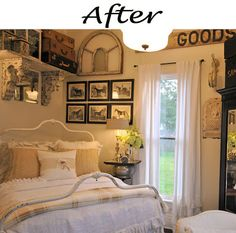 Farmhouse Bedroom Before and After - Remodelaholic