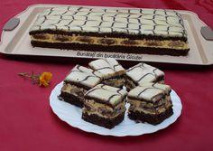 """Prajitura """"poșeta Elenei Udrea"""" - Bunătăți din bucătăria Gicuței Cream Cheese Flan, Cookie Recipes, Dessert Recipes, Romanian Desserts, Fantasy Cake, Polish Recipes, Pastry Cake, Ice Cream Recipes, Cream Cake"""