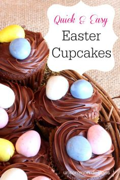 Quick and Easy Easter Cupcakes recipe from @Bonnie &  Trish { Uncommon Designs } #Easter  #Baking  #Cupcakes