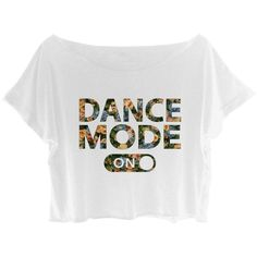 Amazon.com: Women's Crop Top Flower Ballet Shirt Dance Mode On Tee... ($26) ❤ liked on Polyvore featuring tops, t-shirts, crop tee, tee-shirt, white crop tee, white crop shirt and ballet shirts