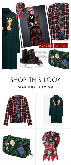 """""""PLAID & TARTAN"""" by tiziana-melera ❤ liked on Polyvore featuring MSGM, Vivienne Westwood and Joshua's"""