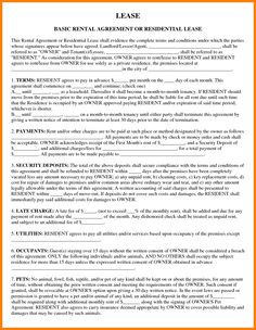 Simple One Page Commercial Rental Agreement Pdf Free