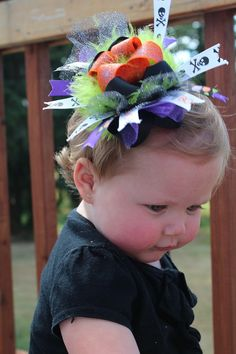 Spiders Galore Halloween Hair Bow
