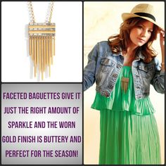 Fringe is hot on the runways, and this necklace speaks to the trend!