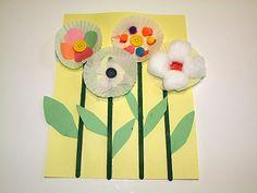 Preschool spring- cupcake liner flowers