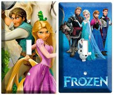 Jazz up light switches with these princess-themed cover plates. | 26 Ideas For The Ultimate Disney Princess Bedroom