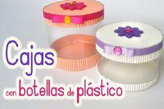 Reciclar botellas de plástico para hacer cajas!                              …
