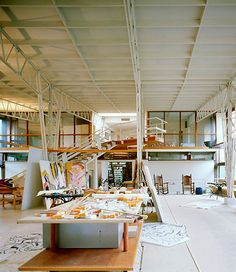 art studio of Willem de Kooning in East Hampton, N.Y.