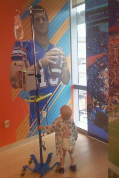 2-year-old Thomas in Timmy's Playroom ~ lllllooooovvve this! And TEBOW!