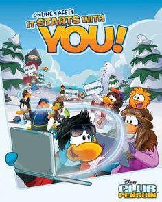 Disney Club Penguin, the virtual world for kids, today launches the global 'It Starts with You!' safety campaign to give kids and families the information an Club Penguin, Cubs, Safety, Campaign, Product Launch, Disney Stuff, Games, Digital, Numbers Preschool