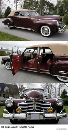 1941 Buick Roadmaster Convertible Phaeton. | http://dreamcarscollections.blogspot.com