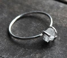 Rock Quartz Crystal Ring