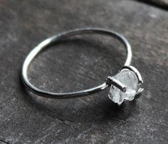 Rock Quartz Crystal Ring