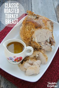 With no crazy ingredients, seasonings or techniques, this Classic Roasted Turkey Breast recipe is our family's favorite part of our Thanksgiving meal and always results in a tender, perfectly seasoned bird!