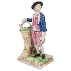 Chimney Sweep, Man Go, Male Face, Young Man, Decorative Objects, Figurative, Sculptures, Hand Painted, Marketing