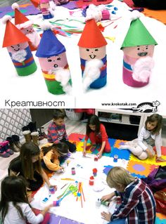 Toilet paper roll gnomes (elves)