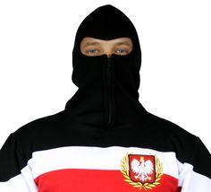 Motyw patriotyczny na bluzie ninja 'Chorągiew' ---> Streetwear shop: odzież uliczna, kibicowska i patriotyczna / Przepnij Pina!