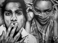 "Saatchi Online Artist Ariel Zachor; Drawing, ""Tabs & Sanjay"" #art"