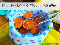 Healthy Mac & Cheese Muffins! Such a brilliant recipe for picnics or school lunch boxes! Especially good for those fussy eaters!