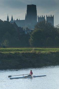 Rowing - Durham near St Cuthberts' boathouse. Yeah Cuths!