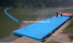It is a both safety fence and platform for rafting outdoor sports in Korea.  포천에 설치된 래프팅계류장으로 안전펜스와 함께 시공되었습니다.