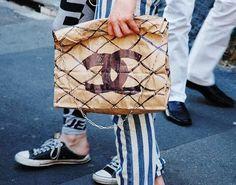 brown paper chanel bag =D