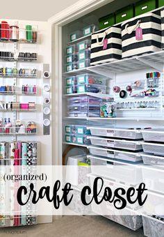 Hi Sugarplum   Organized Craft Closet