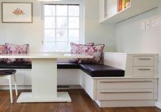 White Corner Dining Set With Banquette Seating Kitchen From Bistro Into Your Home. Kitchen Gallery at Kitchen Banquette Seating Kitchen Corner Bench, Corner Bench With Storage, Corner Dining Set, Storage Bench Seating, Corner Seating, Booth Seating, Kitchen Benches, Kitchen Dining, Seating Plans