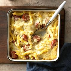 When I first made this dish, my liked it so much that he wanted it for every meal! You can use almost any pasta that will hold the sauce. —Crystal Bruns, Iliff, Easy Meals to … One Pot Meals, Main Meals, Casserole Dishes, Casserole Recipes, Reuben Casserole, Cabbage Casserole, Cauliflower Casserole, Pasta Casserole, Pasta Dishes