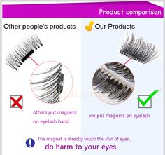 Permanent Magnetic Eyelash 3 Styles Mink Material Eyelashes Magnet Soft Silk Individual Eyelash Extension kit 3D Mink Cilia