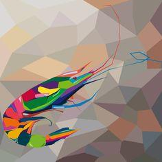 Gambero. Adobe Illustrator. Tecnica Wpap. Autore Francesco Bustreo 3Al